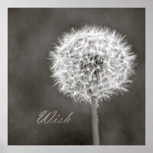 Inspired Wish Dandelion Print