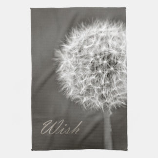 Inspired Wish Dandelion Tea Towel