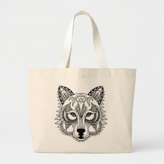 Inspired Wolf Large Tote Bag