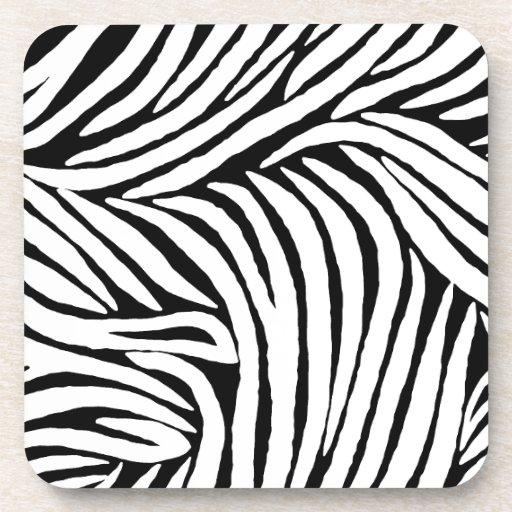 Inspired Zebra Print Drink Coaster
