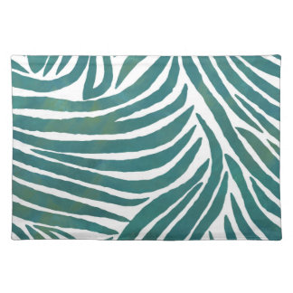 Inspired Zebra Print  Teal Placemats