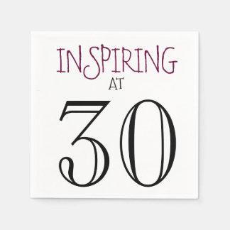 Inspiring at 30 Celebrating Birthday Party Paper Napkins