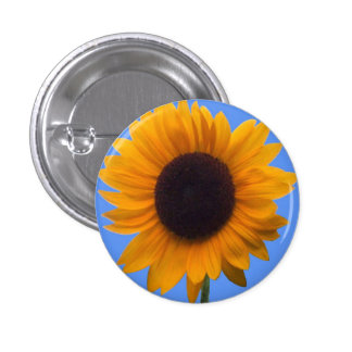 Inspiring Autumn Beauty Sunflower Singular Blossom 3 Cm Round Badge