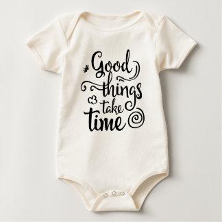 Inspiring Good Things Take Time   Bodysuit