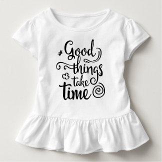 Inspiring Good Things Take Time | Ruffle Tee