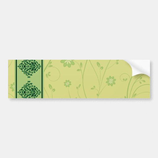 Inspiring greenish blossom on yellow texture bumper sticker