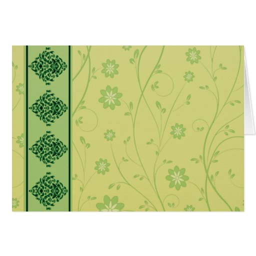 Inspiring greenish blossom on yellow texture greeting cards