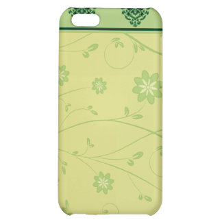 Inspiring greenish blossom on yellow texture iPhone 5C covers