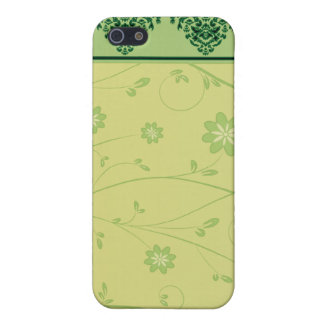 Inspiring greenish blossom on yellow texture iPhone 5 cases