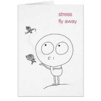 "Inspiring Greeting Card ""Stress Fly Away"""