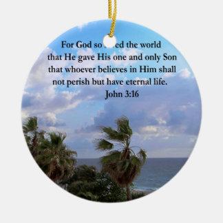 INSPIRING JOHN 3:16 CERAMIC ORNAMENT