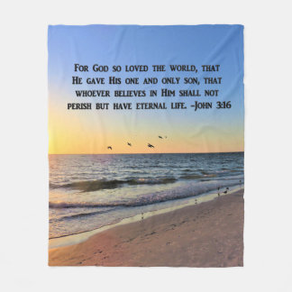INSPIRING JOHN 3:16 FLEECE BLANKET
