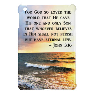 INSPIRING JOHN 3:16 OCEAN PHOTO DESIGN CASE FOR THE iPad MINI