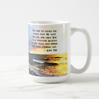 INSPIRING JOHN 3:16 OCEAN PHOTO DESIGN COFFEE MUG