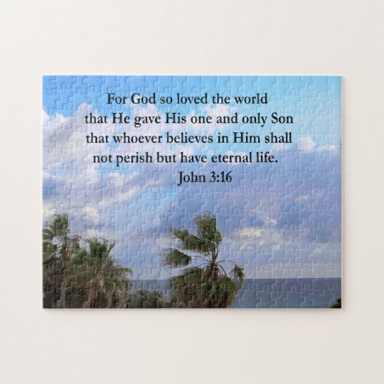 INSPIRING JOHN 3:16 PHOTO JIGSAW PUZZLE