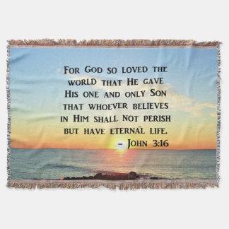INSPIRING JOHN 3:16 SUNRISE PHOTO DESIGN THROW BLANKET