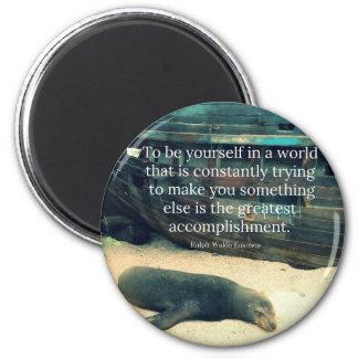 Inspiring Life quote beach theme Magnet