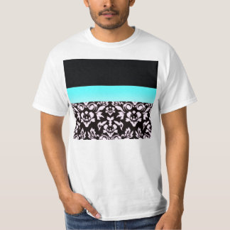 Inspiring light pinkish damask pattern t shirts