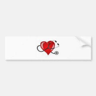 Inspiring Love Doctor Heart design Bumper Sticker