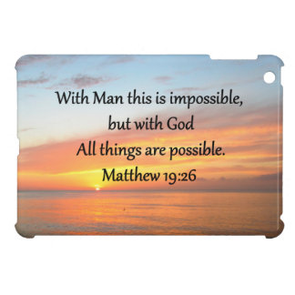 INSPIRING MATTHEW 19:26 SUNRISE DESIGN iPad MINI CASES