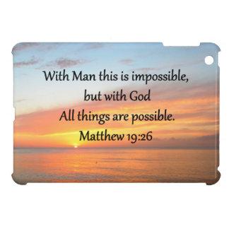 INSPIRING MATTHEW 19:26 SUNRISE DESIGN iPad MINI COVER