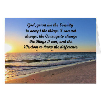 INSPIRING OCEAN SERENITY PRAYER GREETING CARD