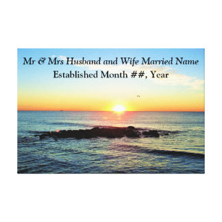INSPIRING PERSONALIZE SUNRISE WEDDING CANVAS PRINT