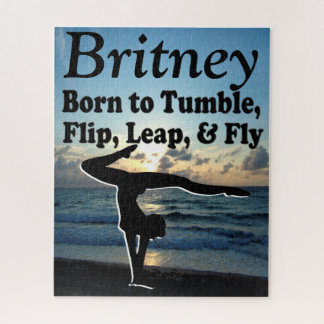 INSPIRING PERSONALIZED GYMNAST GIRL PUZZLE