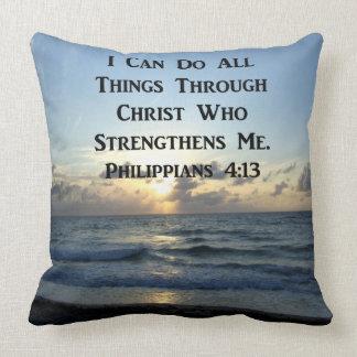 INSPIRING PHILIPPIANS 4:13 BIBLE VERSE THROW PILLOW