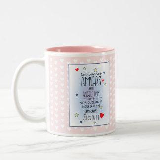 inspiring phrases Two-Tone coffee mug