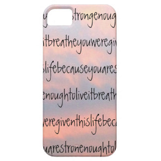 """""""Inspiring Quote and Clouds"""" Case for iPhone 5/5s"""