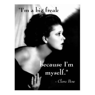 Inspiring Quote Clara Bow Movie Star Black White Postcard