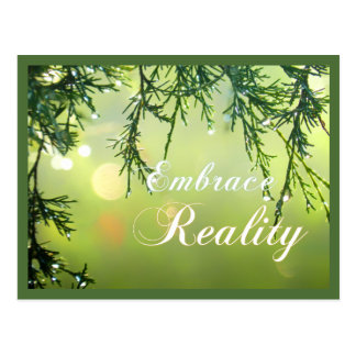 Inspiring Quote Embrace Reality Positive Thinking Postcard