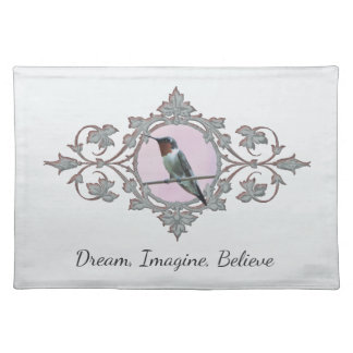 Inspiring Quote with Hummingbird Photo Placemat