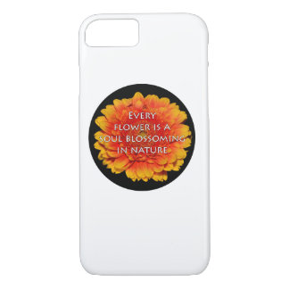 Inspiring Quotes with Flowers iPhone 7 Case