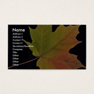 Inspiring Sugar maple leaf Business Card