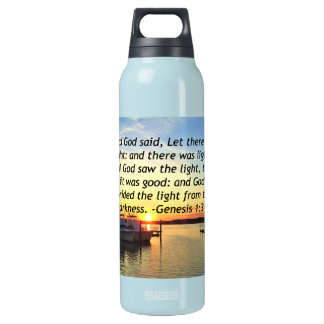 INSPIRING SUNSET GENESIS 1:3 PHOTO DESIGN INSULATED WATER BOTTLE