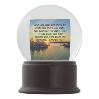 INSPIRING SUNSET GENESIS 1:3 PHOTO DESIGN SNOW GLOBE