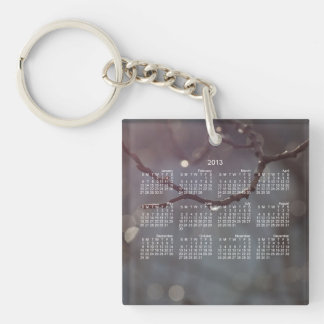 Inspiring Sunshine; 2013 Calendar Single-Sided Square Acrylic Key Ring