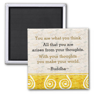 Inspiring Thought Buddha Quote Magnet