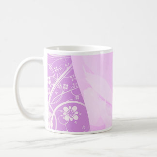 Inspiring Violet swirls and floral special gift Coffee Mug