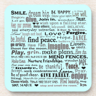 inspiring words coaster art