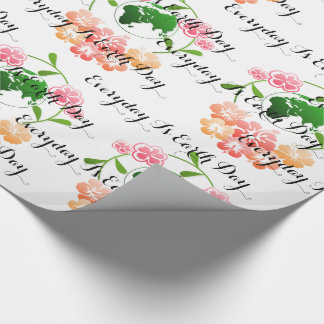 Inspiring words, Floral Wrapping Paper. Wrapping Paper