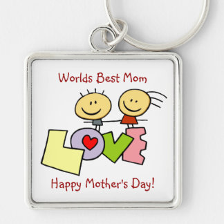 Inspiring Worlds Best Mom - Happy Mother's Day Key Chains