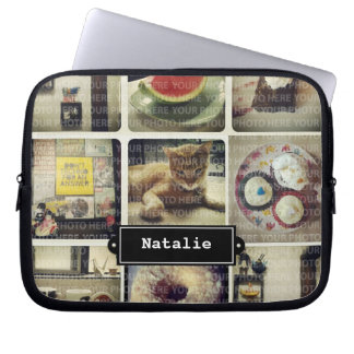 Insta Collage Electronics Bag Computer Sleeve
