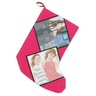 Instagram 2-Photo Customizable Christmas Stocking
