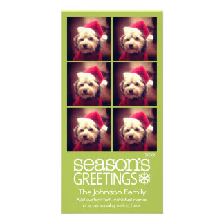 Instagram 6 photo collage - lime background card