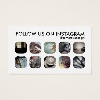 instagram followers business card