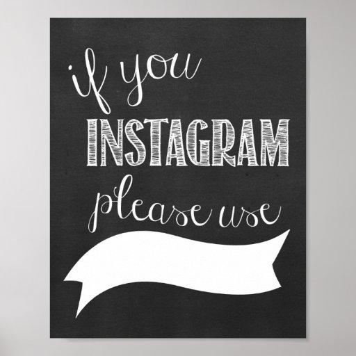 instagram hashtag wedding chalkboard poster zazzle. Black Bedroom Furniture Sets. Home Design Ideas