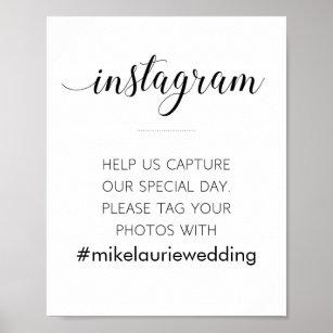 Instagram Hashtag Wedding Sign - Alejandra